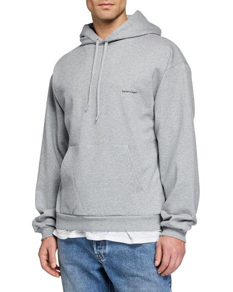 Balenciaga Men's Small Logo Pullover Hoodie