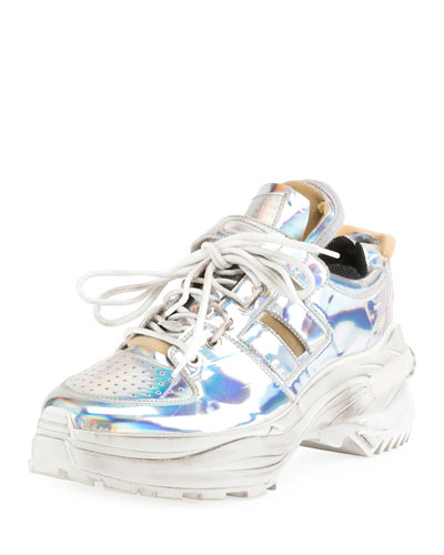Men's Retrofit Metallic Trainer Sneakers