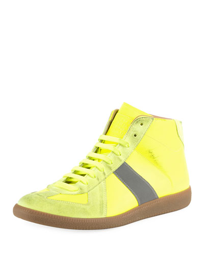Men's Replica High-Top Sneakers w/ Dirty Treatment