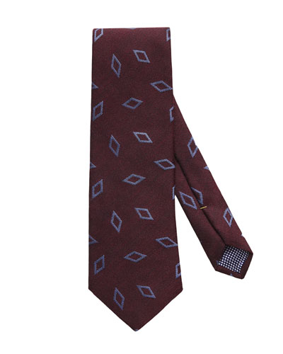 Men's Silk/Wool Geo Tie
