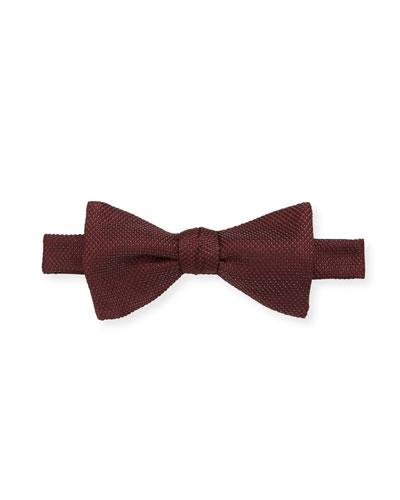 Men's Textured Solid Bow Tie