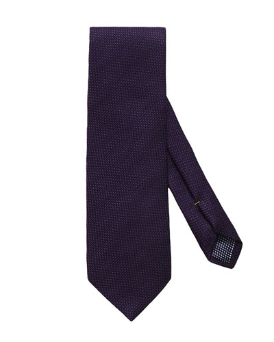 Men's Solid Wool/Silk Tie