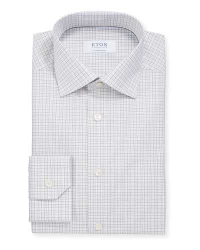 Men's Contemporary-Fit Grid Check Dress Shirt