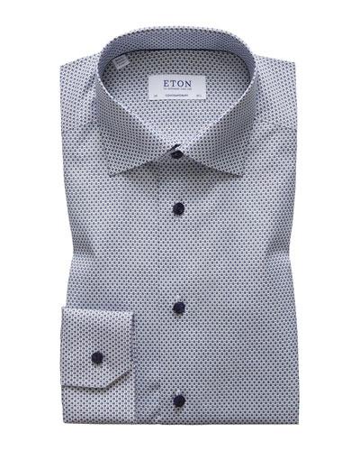 Men's Contemporary Fit Neat Print Dress Shirt