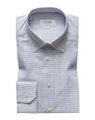 Eton Men's Contemporary Fit Flanella Check Dress Shirt