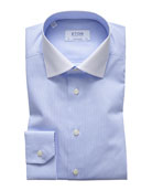 Eton Men's Contemporary Fit White-Collar Solid Dress Shirt