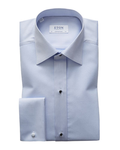 Men's Pique Shimmer Formal Shirt