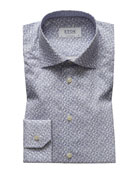 Eton Men's Contemporary Fit Paisley Pines Print Dress