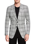 TOM FORD Men's O'Connor Plaid Two-Button Jacket