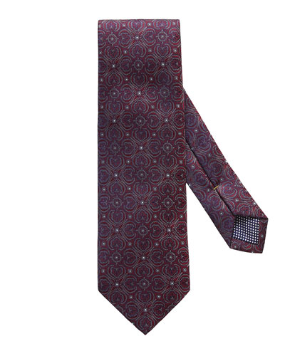 Dotted Medallion Tie