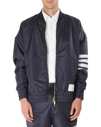 Men's Oversized Ripstop Bomber Jacket