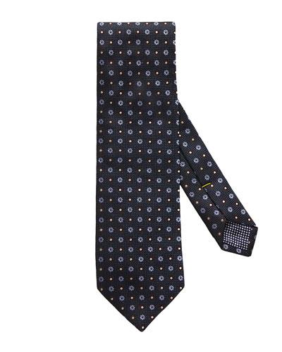 Floral Circle Silk Tie