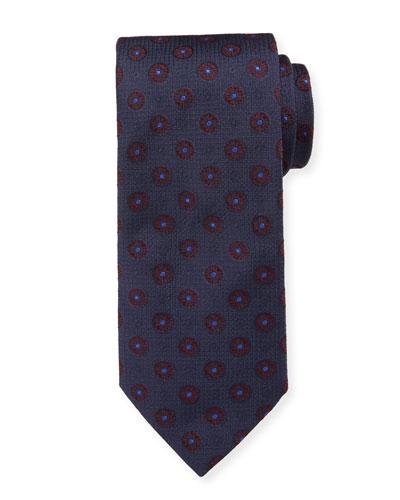 Men's Silk Floral Medallion Tie