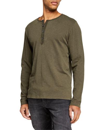 Men's Long-Sleeve Henley T-Shirt