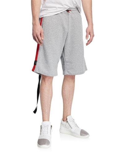 Men's Side-Stripe Sweat Shorts