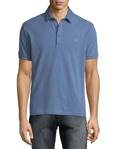 Men's Heathered Polo Shirt