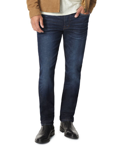 Men's Slim-Leg Dark-Wash Jeans