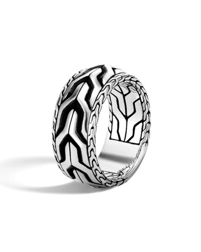 Men's Classic Chain Asli Silver Band Ring