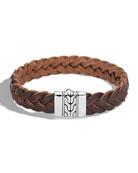 John Hardy Men's Classic Chain Braided Leather Bracelet