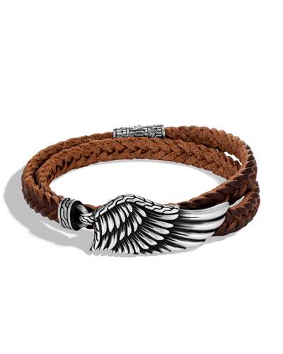 Men's Legends Eagle Double-Wrap Bracelet