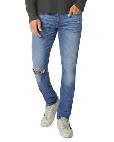 Men's Light-Wash Slim-Leg Jeans