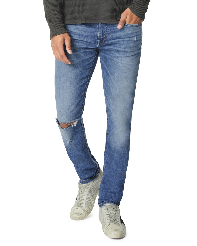 Men's Light-Wash Slim-Leg Jeans