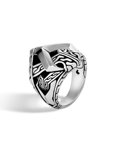 Men's Classic Chain Asli Silver Link Ring