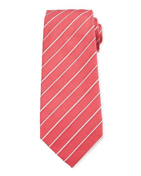 Isaia Two-Tone Stripe Silk Tie