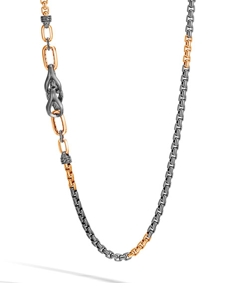 John Hardy Men's Asli Classic Chain Necklace w/ Bronze Links