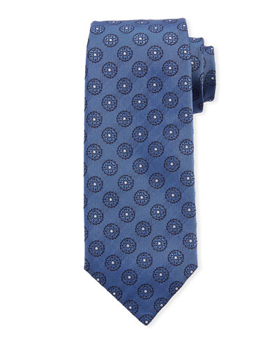 Circle Medallions Silk Tie