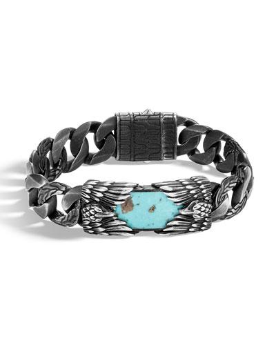 Men's Legends Eagle Turquoise & Pyrite Bracelet