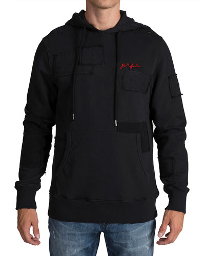 Men's Hoodie with Patch Detail