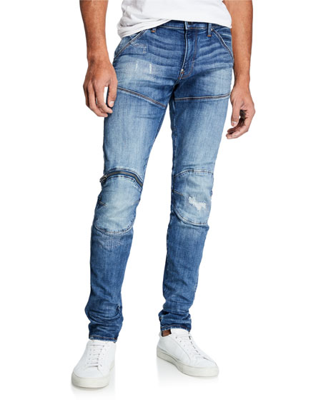 G-Star Men's Zip Knee Skinny Denim Jeans