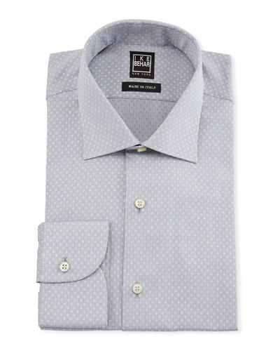 Men's Dotted Cotton Dress Shirt