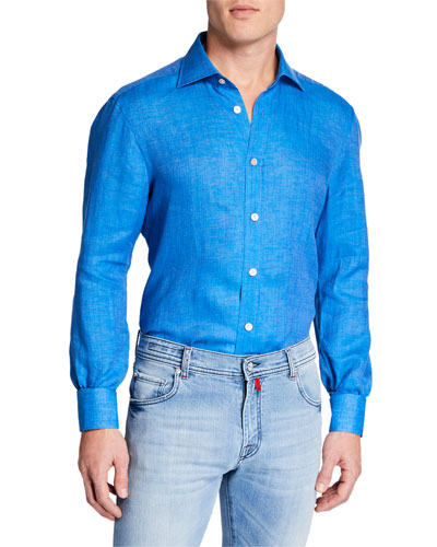 Men's Linen Chambray Sport Shirt