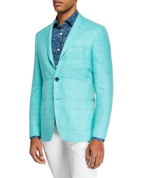 Kiton Men's Mint Window Sportcoat