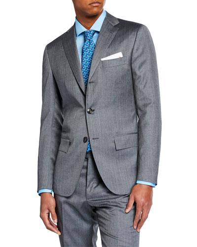 Men's Herringbone Solaro Two-Piece Suit