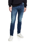 Diesel Men's Thommer Slim Fit Denim Jeans with