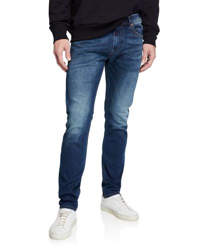 Men's Thommer Slim Fit Denim Jeans with Pocket Stitching