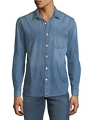 FRAME Men's Single-Pocket Denim Sport Shirt