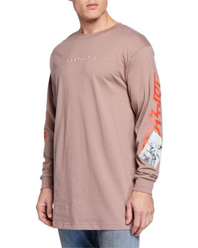 Men's Lucas Oversized Long-Sleeve T-Shirt