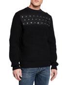 Diesel Men's Rushis Grommet Sweatshirt