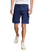 Kiton Men's Linen/Cotton Cargo Shorts