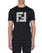 Fendi Men's Mesh Logo T-Shirt