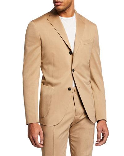 Men's Solaro Wool/Cotton Two-Piece Suit
