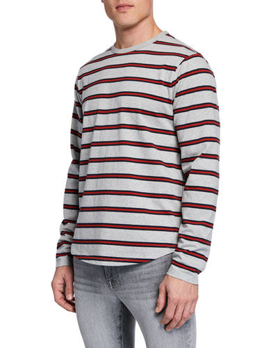 Men's Striped Long-Sleeve T-Shirt
