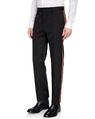 Men's Side-Striped Twill Pants