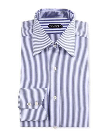 TOM FORD Men's Wide Stripe Dress Shirt