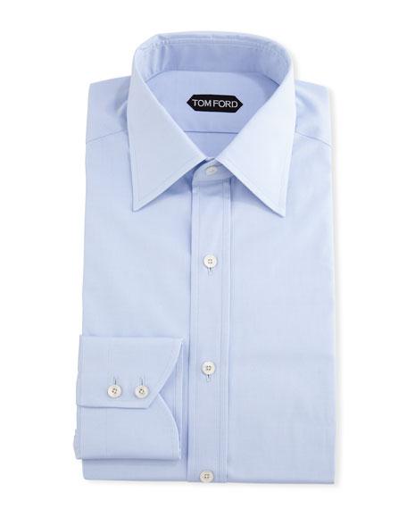 TOM FORD Men's Slim-Fit Solid Poplin Dress Shirt