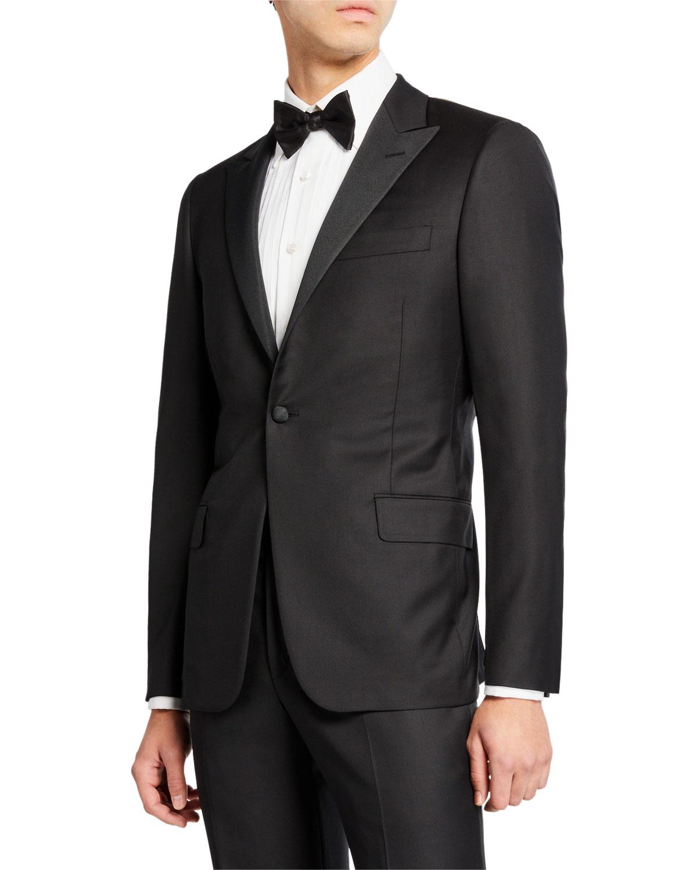 Men's Peak-Lapel Solid Tuxedo Suit